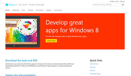 Windows 8: los desarrolladores y Windows Store