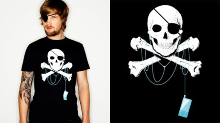 "Camiseta ""Le pirate moderne"""
