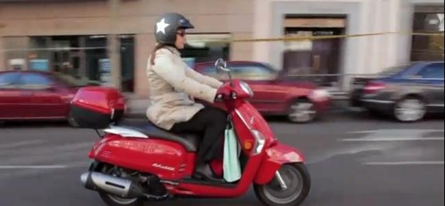 Scooter con bolsas