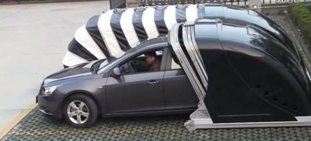 ¿Te gustaría un garage plegable para tu auto? Ahora ya es posible gracias a nuestros amigos chinos