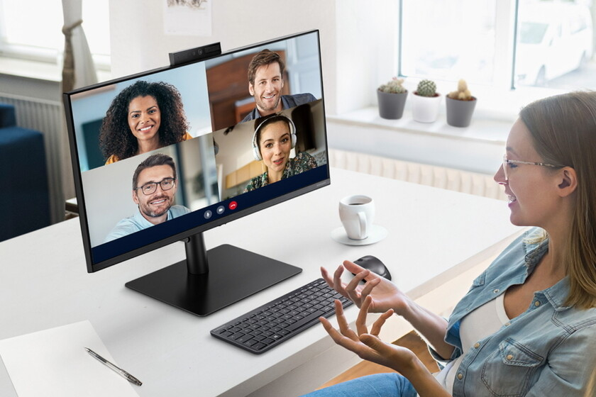 Samsung announces the Webcam Monitor S4, a new monitor with a retractable and integrated webcam and certified for Windows Hello