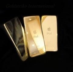 Un iPod con un baño de oro de 24 kilates