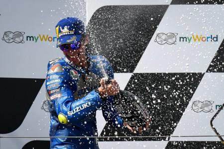 Joan Mir prolongó su idilio con el Red Bull Ring y ya sabe cómo son los podios de MotoGP