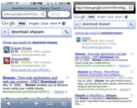 Google y las búsquedas que devuelven aplicaciones