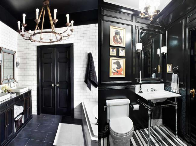 17 ideas para decorar tu baño con colores oscuros