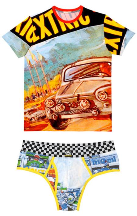 Calzoncillos y camisetas basados en el Scalextric, de Armand Basi