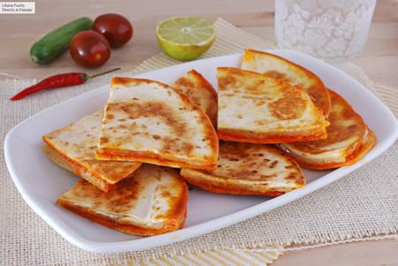 Quesadillas de sobrasada y queso Havarti: receta de aperitivo o de cena fácil y sabrosa