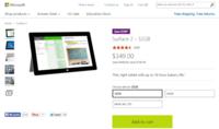 Microsoft rebaja temporalmente el Surface 2 en 100 dólares para Estados Unidos