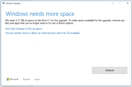 Windows 10 ya permite usar discos externos para actualizar a nuevas builds en PCs con poco espacio