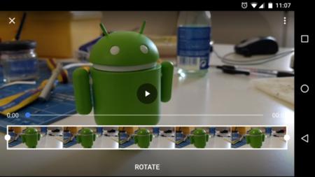 Rotar video en Google Photos