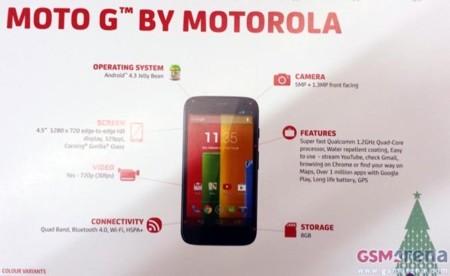 Motorola Moto G, primeras imágenes