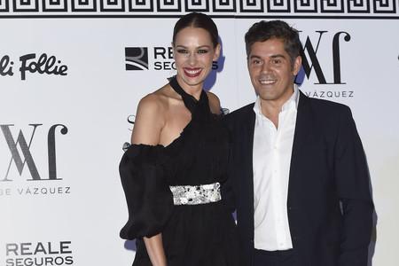 Eva González embarazada y radiante en la cena del diseñador Jorge Vázquez