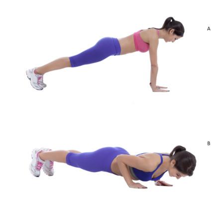Tabla de ejercicios en casa para brazos