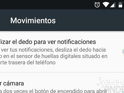 El gesto del sensor de huellas para ver las notificaciones llega a los Nexus 5X
