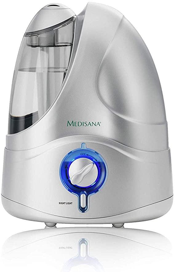 Medisana UHW Umidificador ultrasónico, purificador de aire para dormitorios, sala de estar, oficina y habitaciones infantiles, nebulizador para un mejor clima ambiental, 4.2 litros