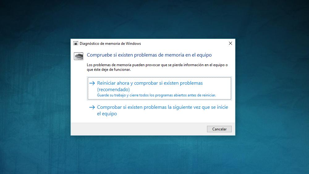 Diagnostico De Memoria De Windows