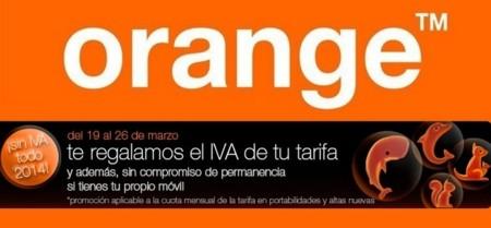 Semana sin IVA en la tienda online de Orange para algunas de sus tarifas