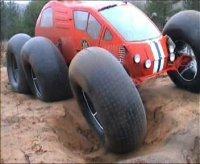 Seis ruedas inflables para un vehículo loco