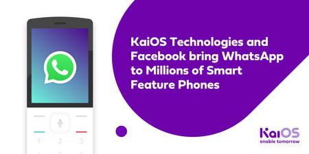 WhatsApp ya está disponible en KaiOS, el sistema operativo de los 'feature phones' como el Nokia 8110