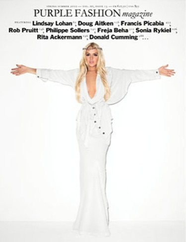 "Lindsay Lohan, ""crucificada"" para la revista Purple"