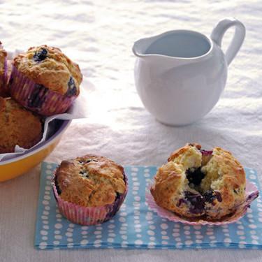 Receta de muffins de arándanos
