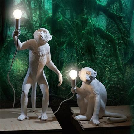 Lampe A Poser Monkey Standing Blanc H54cm Seletti