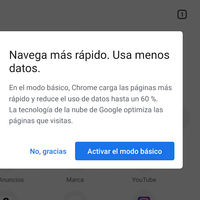"""Chrome para Android estrena el nuevo """"Modo básico"""": así es el sucesor de su modo para el ahorro de datos"""
