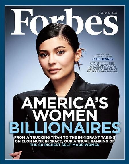 Con tan solo 20 años Kylie Jenner protagoniza la nueva portada de Forbes