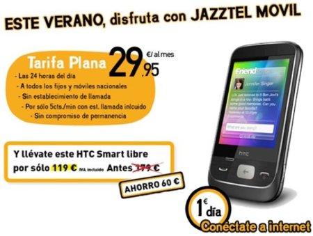 Jazztel Tarifa Plana A Todos 24 horas, llamadas a 5 céntimos al minuto sin contrato de permanencia