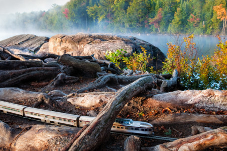 Algonquin Park Canadian Train