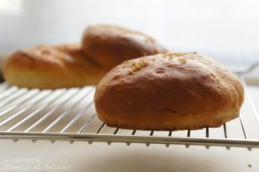 Pan de hamburguesa casero. Receta