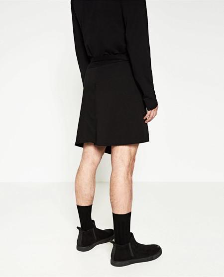 Falda Masculina Zara Dark Male Skirt Trendencias Hombre