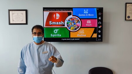 La visita a este dentista no será un dolor de muelas si le ganas en Super Smash Bros. Ultimate y te llevas una limpieza bucal gratis