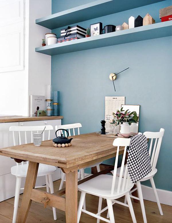 Pared Azul Cocina 1