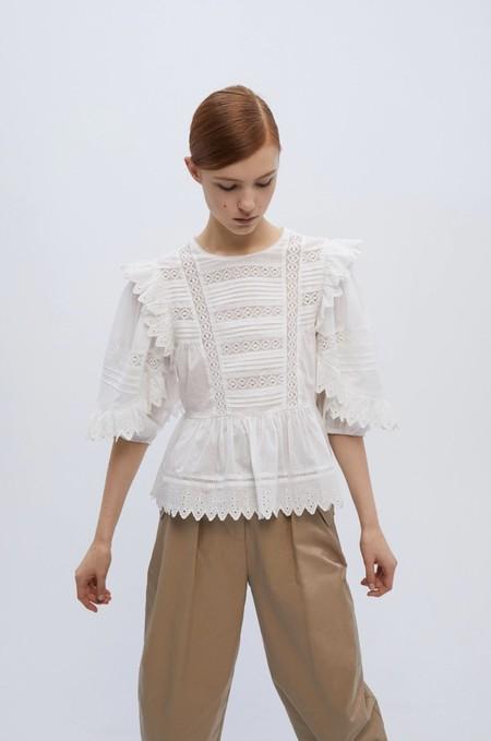 Tops Blusas Blancas Verano 2020 Sfera 12