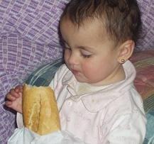 El pan, muy aconsejable en la dieta de los niños