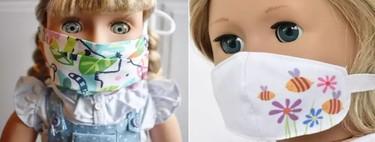 Mascarillas para muñecas para concienciar a los niños sobre el Covid, y cómo hacerlas