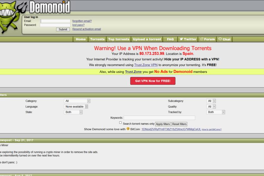 Demonoid: la convulsa historia de uno de los trackers más