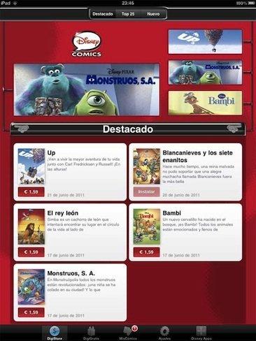 Cómics de Disney para iPhone y iPad