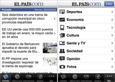 El diario El País lanza su propia aplicación en la AppStore