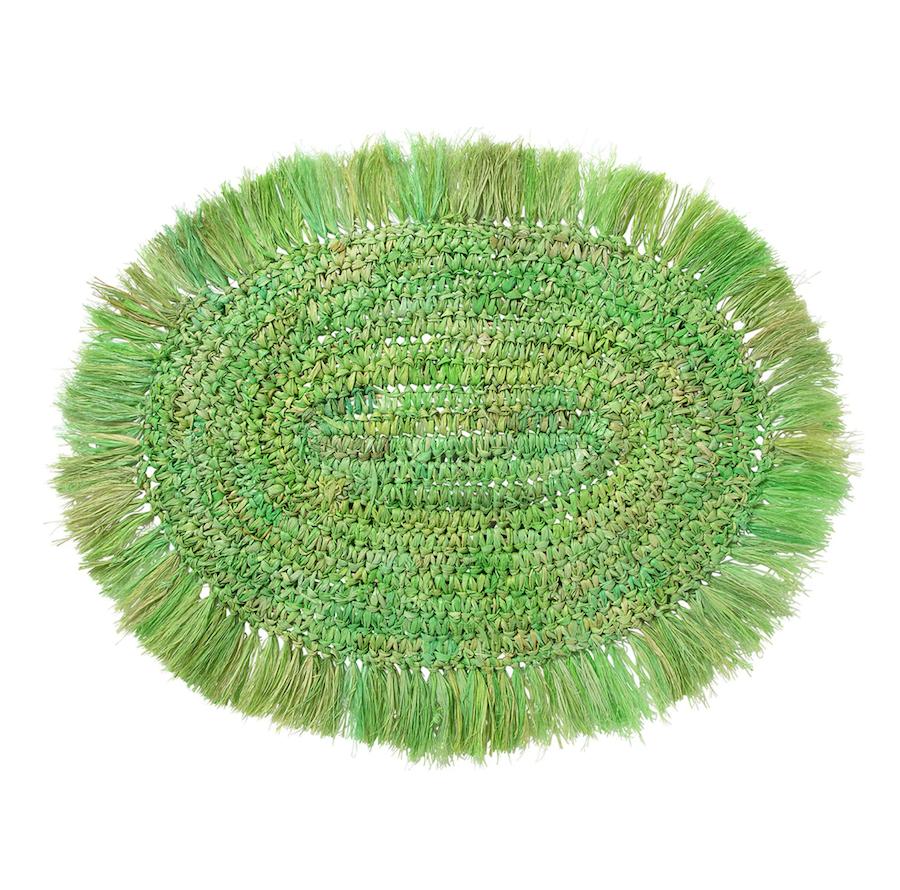 Mantel individual ovalado rafia flecos Caribe El Corte Inglés