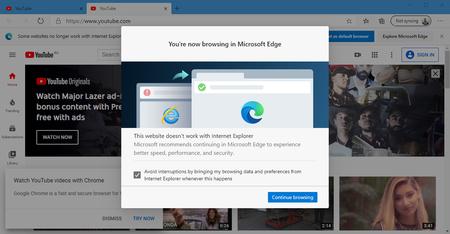 Bloqueo 1156 Sitios Paginas Web Internet Explorer Obligar Uso Microsoft Edge