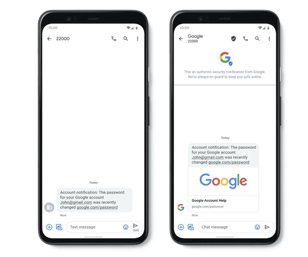 Google wants to fight against phishing with a new tool, the SMS-verified