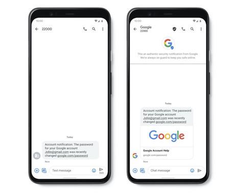 Google quiere luchar contra el phishing con una nueva herramienta, los SMS verificados