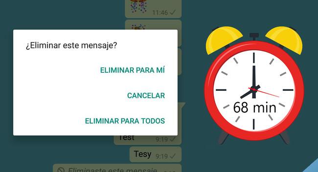Con WhatsApp Beta puedes borrar mensajes para todos hasta una hora más tarde