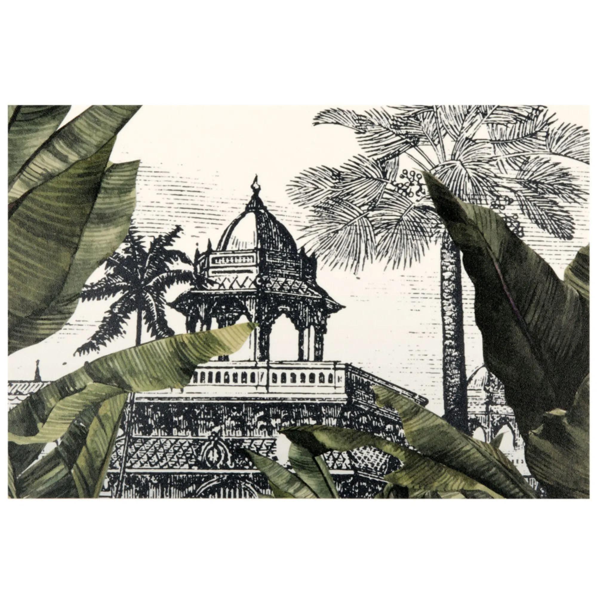 Mantel individual de vinilo con estampado de paisaje tropical