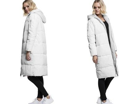Urban Classics Ladies Oversized Hooded Puffer Coat Abrigo Para Mujer