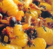 Ñoquis con salsa de setas