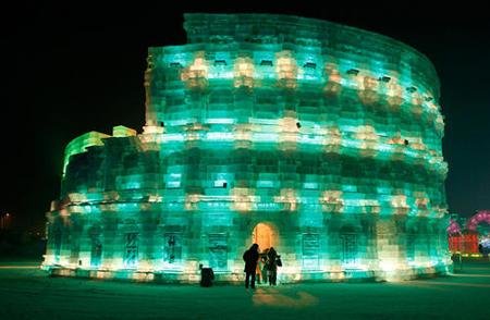 Una ciudad de hielo en Harbin (China)