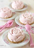 Cheesecakes helados de fresa. Receta